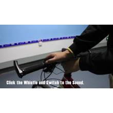 Luz de bicicleta de altavoz led recargable USB con cuerno