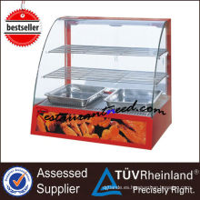 Showcase de vitrinas de vidrio eléctrico curvo K100
