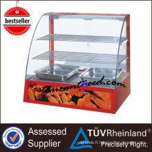 Vitrine d'affichage de réchauffement d'aliments électriques en verre courbe K100
