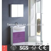 Modern MDF designer red bathroom cabinet