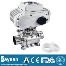 Sanitary 3PC Electric ball valve