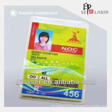 Hologram plastic overlay for id card with custom logo design