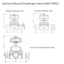 Sanitary Stainless Steel Manual Diaphragm Valve (SMS ZNRG)