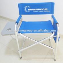 Dobrar a cadeira de diretor de alumínio com mesa lateral para exterior