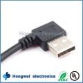 Drehen Sie 90 Grad-Mikro-USB-2.0 Mann zum männlichen Daten-Synchronisierungs-Aufladung USB-Kabel