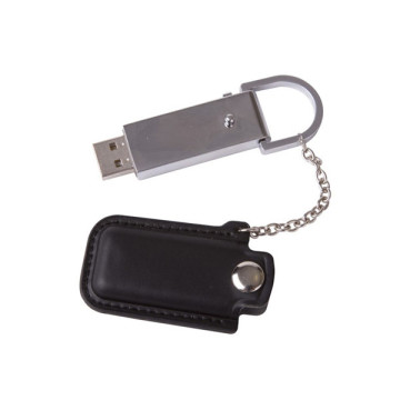 Cheapest Promotion Leather Metal USB Flash Drive