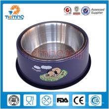 bon marché produit d'animal familier d'acier inoxydable, alimenteur / cuvette d'animal familier