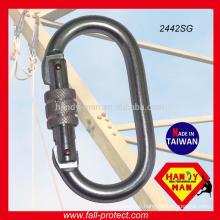 2442SG Steel Zinc Plated Symmetrical CE EN362 Carabiner
