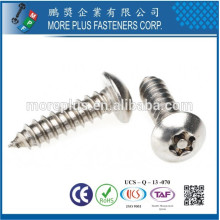 Made in Taiwan M3.5X18 Stainless Steel Nature Torx Drive Self Tapping Screw
