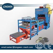 Tin Can Box Lid / Bottom / Cone / Dome Making Machine Automatic CNC Tinplate Sheet Feeding Punch Press