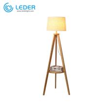 Lampadaire LEDER en bois marron