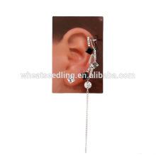 Chinesischer Lieferant Diamant weißer schwarzer Ohrring mit Quaste quadratischer Ohrring