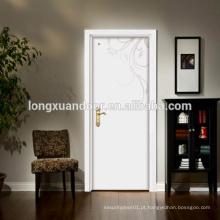 Porta interior mdf / hdf pele