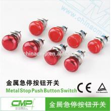 CMP impermeable 19mm parada de emergencia botón seta rojo ip67