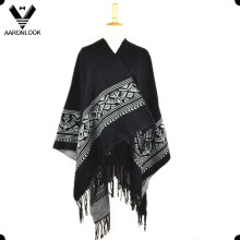 2016 High Quality Woven Jacquard Poncho