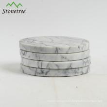 Mesa de piedra natural plato de té mármol coaster
