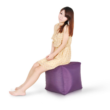 Hot Selling Square Pouf Ottoman Stool Bean Bag