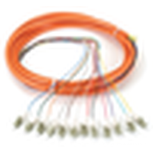 OM1 62,5-Micron Multimode Fiber Optic Pigtail, 12-Strand, LC, Orange, 3-m fiber optical pigtail