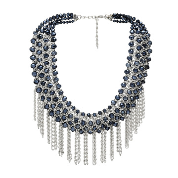 Fashion Crystal Necklace, Beaded Necklace, Hot Sell Jewelry