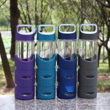 550 мл портативный Спорт стеклянная бутылка воды