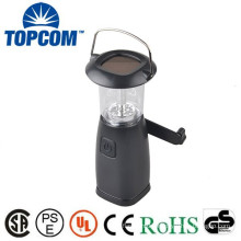 Rechargeable Plastic LED Solar Hand Cranking Dynamo Lantern