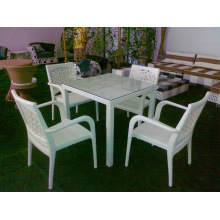 Rattan Outdoor Garden Hot Modern 4 Chairs Dining Set Furniture