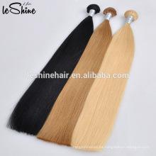 Extensiones de pelo rubio Remy ruso de 40 pulgadas que teje cabello