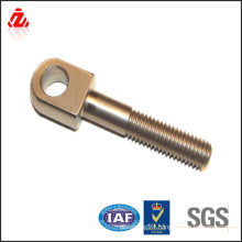 custom brass flat eye bolt