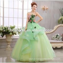 Vestido nupcial del vestido de boda del vestido de boda del verde de limón de la nueva llegada 2017 Vestido de Noiva vestido nupcial del vestido de las mujeres