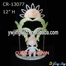 12 pulgadas Summer Holiday Palm Tree Girls Crown