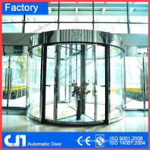 Motel Building 2 Wings Automatic Revolving Door Manufacturer