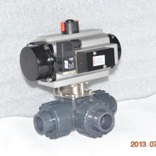 alta calidad de plástico verdadera unión 3 vías UPVC conexión de unión válvula de bola de aire