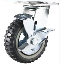 Heavy Duty PU Caster Wheel Side Lock