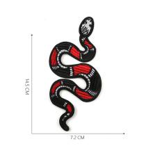 Большая игрушка в виде змеи вышивка DIY патчи аппликация на одежду