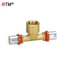 B17 4 13 hembra ajuste a presión hembra tee tee tubo de tubería accesorios de tubería
