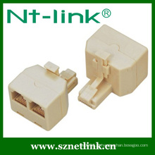 NT-Link Cat5e UTP 2 vias Duplex Jack