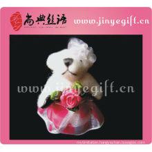 Pure White Handmade Cute Mini Keychain Bear