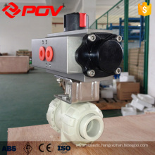 PPH flange type airpowered ball valve