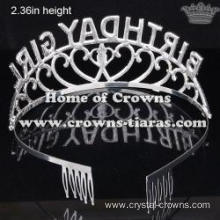 Alloy Crystal Birthday Girl Princess Crowns