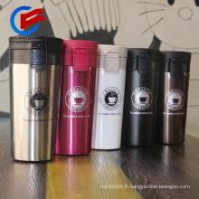 Tasse de café de thermos de café de haute qualité avec des tasses de couvercle et des tasses bocal à vide thermos tasse de café pot tasse de voyage