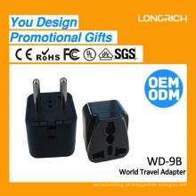 Tomada de medidor de potência Multifunctional Travel Plug, conector de 3 pinos ce rohs aprovado