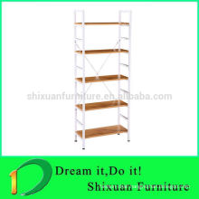 2016 modern design metal frame 5 storey particle board shoe shelf