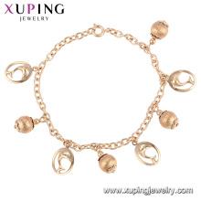 75170 Xuping atacado Cordão de seda de cobre Ambiental pulseira cordão de ouro para amostra grátis
