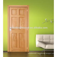 6 Panel Oak Nature Veneer Stile and Rail Door for Dining Room