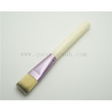 Wooden Flat Foundation Makeup Brush for Facial