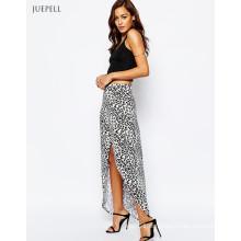 Wrap Animal Print Maxi Long Skirt para Mujeres