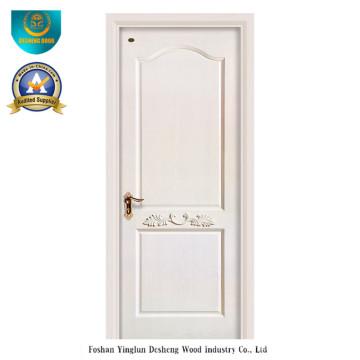 Porta composta de madeira maciça de cor branca (ds-039)