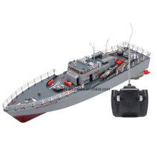 Alta Potência 1: 115 Escala RC Navio De Pesca Simulação Guiado Torpedo Barco Modelo
