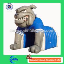 Melhor qualidade pintura inflável cão túnel de futebol túnel inflável bulldog à venda