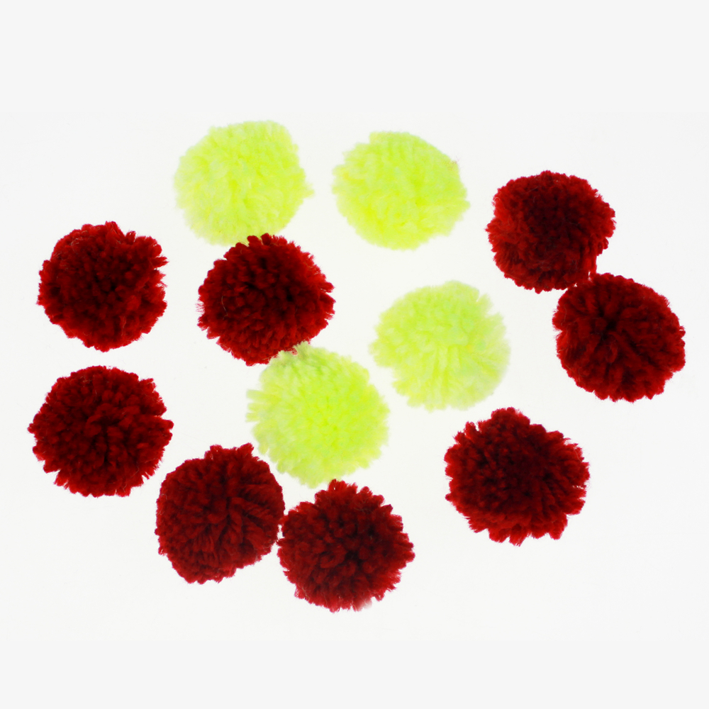 Color assorted pompom craft